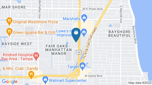 TownePlace Suites by Marriott Tampa South Map