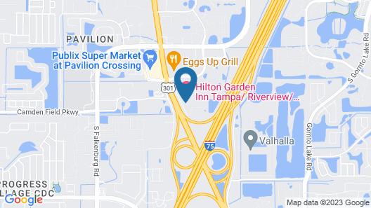 Hilton Garden Inn Tampa/Riverview/Brandon Map