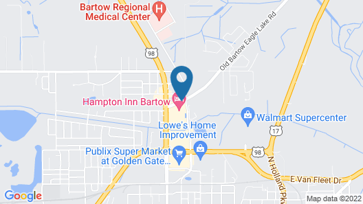 Hampton Inn by Hilton Bartow Map