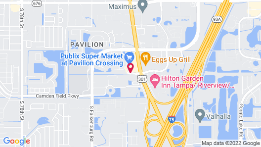 Uptown Suites Extended Stay Tampa FL – Riverview Map