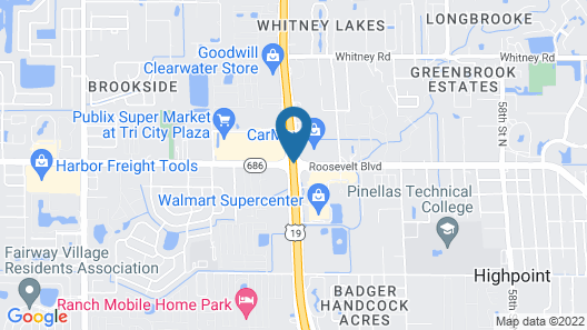 WoodSpring Suites Clearwater Map