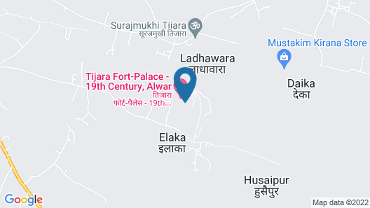 Neemrana's Tijara Fort Palace Map