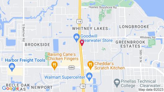Rodeway Inn Clearwater-Largo Map