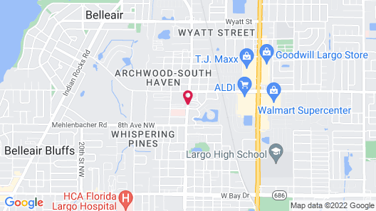 Belleair Village Motel Map