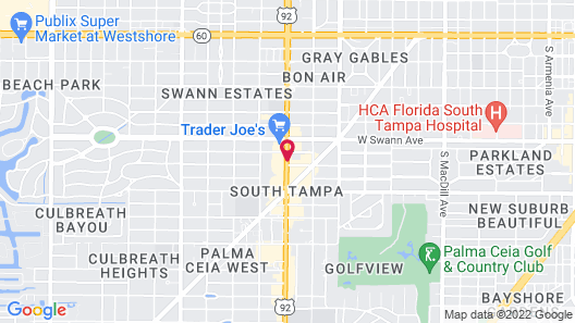 Best Western Tampa Map