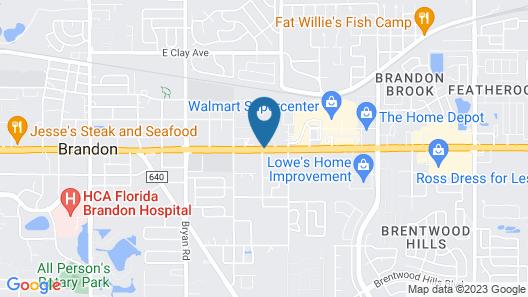 Brandon Motor Lodge Map