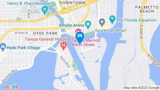 The Westin Tampa Waterside Map