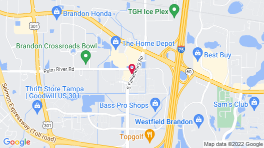 Springhill Suites by Marriott Tampa Brandon Map