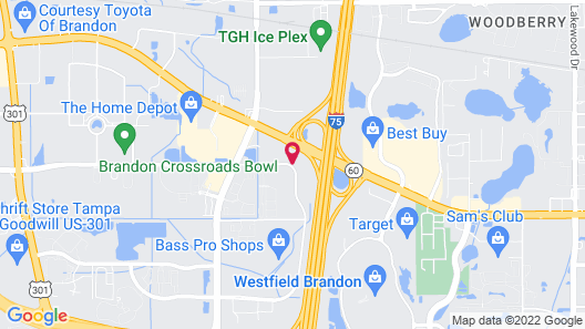 Homewood Suites by Hilton Tampa-Brandon Map