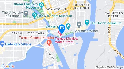 Tampa Marriott Water Street Map