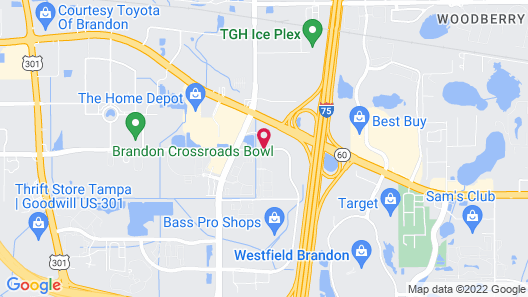 Courtyard by Marriott Tampa Brandon Map