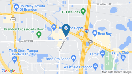 Fairfield Inn and Suites by Marriott Tampa Brandon Map