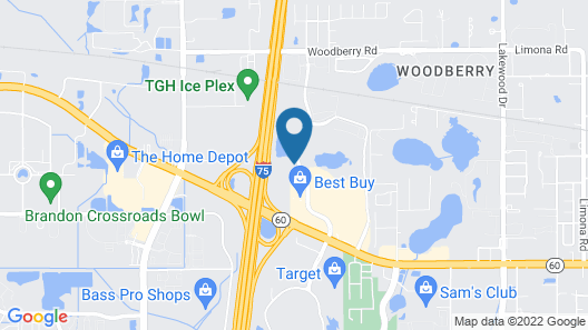Extended Stay America Suites Tampa Brandon Map