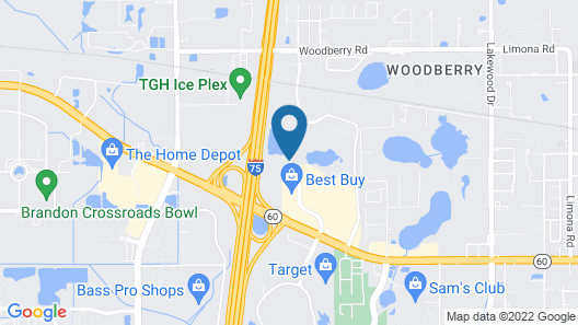 Extended Stay America - Tampa - Brandon Map