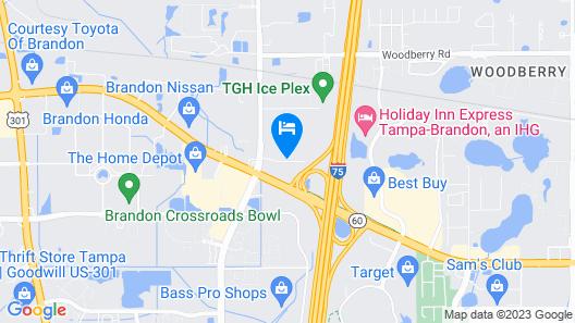 Red Roof Inn Tampa - Brandon Map