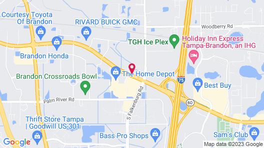 Motel 6 Tampa, FL - Fairgrounds Map