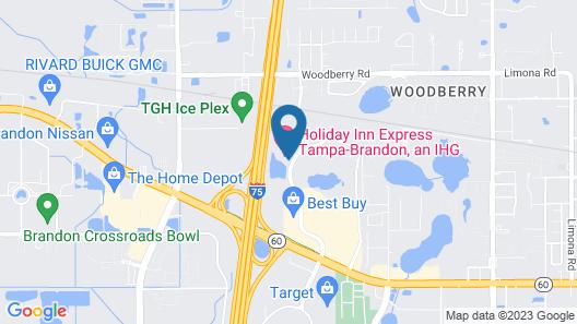 Holiday Inn Express Tampa-Brandon, an IHG Hotel Map