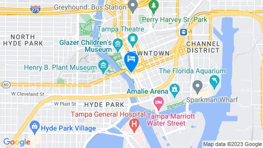 Sheraton Tampa Riverwalk Hotel Map