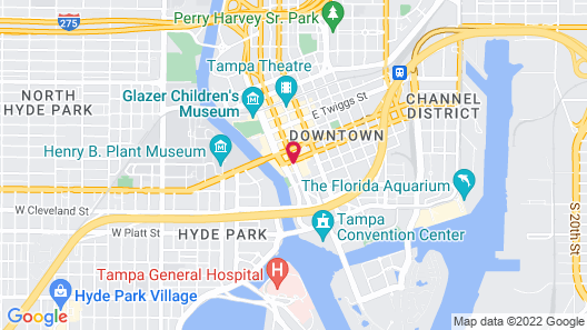 Hilton Tampa Downtown Map
