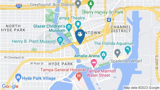 Hilton Tampa Downtown Map