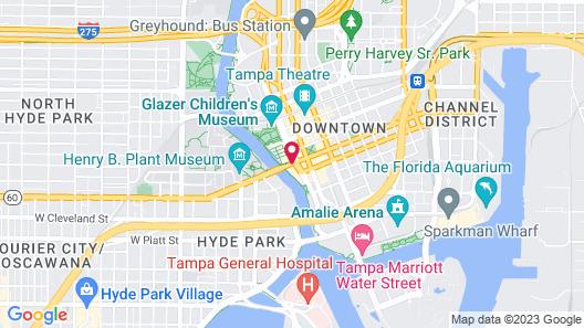 Aloft Tampa Downtown Map