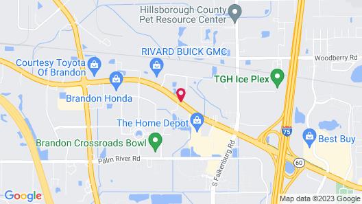 Comfort Suites Tampa - Brandon Map