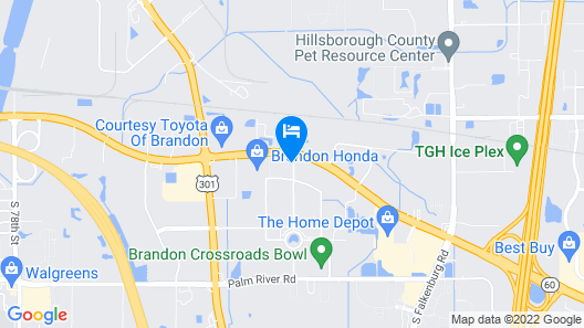 Clarion Inn and Conference Center Tampa - Brandon Map