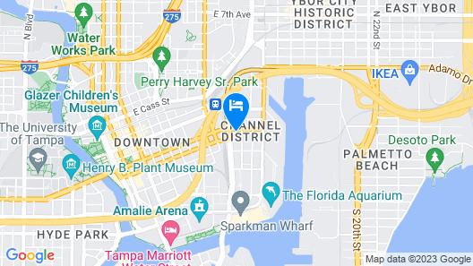 Hampton Inn Tampa Downtown Channel District Map