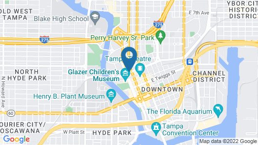 Courtyard by Marriott Tampa Downtown Map