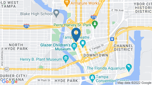 Residence Inn By Marriott Tampa Downtown Map