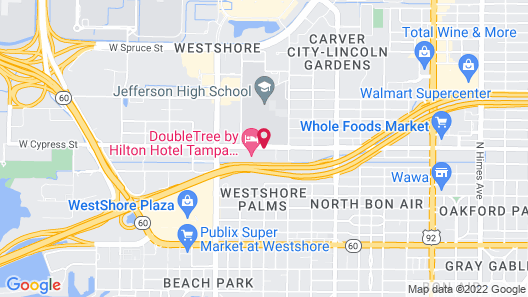 DoubleTree by Hilton Hotel Tampa Airport - Westshore Map