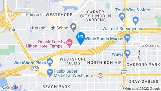 Four Points by Sheraton Suites Tampa Airport Westshore Map