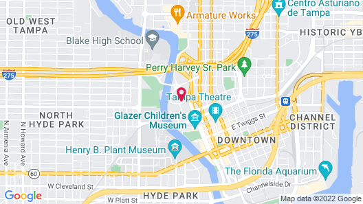 The Barrymore Hotel Tampa Riverwalk Map