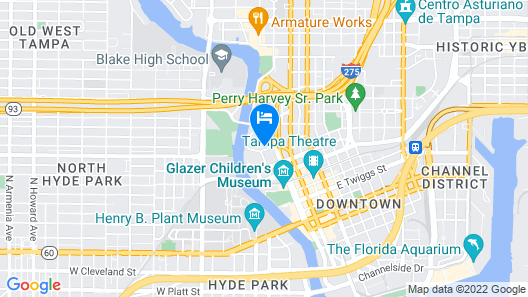 The Barrymore Hotel Tampa Riverwalk Map