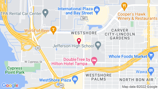 Hyatt Place Tampa Airport/Westshore Map