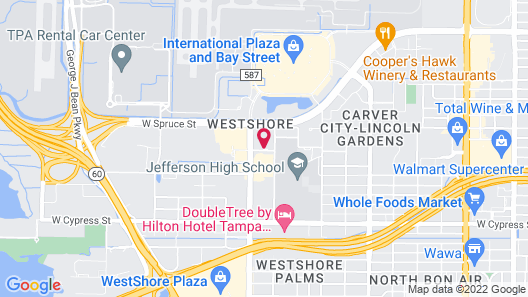 Extended Stay America Suites Tampa Airport N Westshore Blvd Map