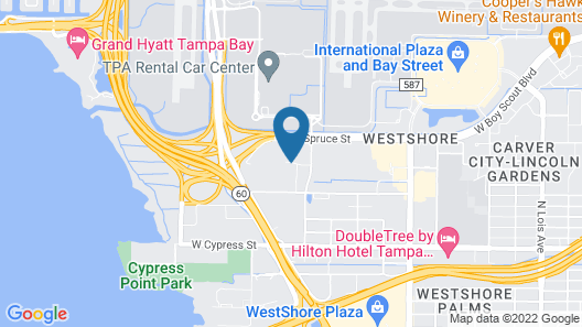 Hampton Inn & Suites Tampa Airport Avion Park Westshore Map