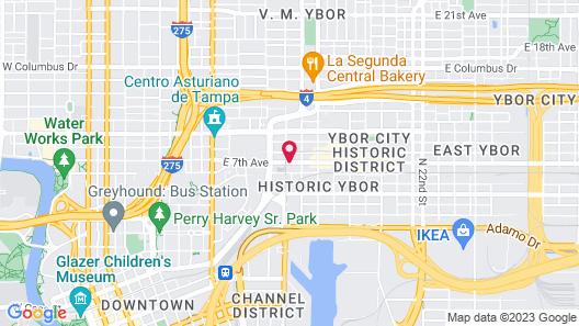 Hampton Inn and Suites Tampa - Ybor City Downtown Map