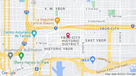 Hilton Garden Inn Tampa Ybor Hist. District Map