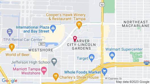 Hilton Tampa Airport Westshore Map