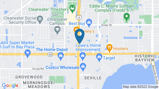 Clarion Inn & Suites Clearwater Central Map