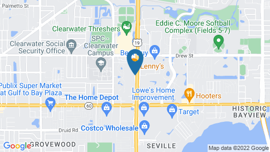 SureStay Plus Hotel by Best Western Clearwater Central Map