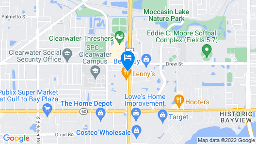 La Quinta Inn by Wyndham Clearwater Central Map