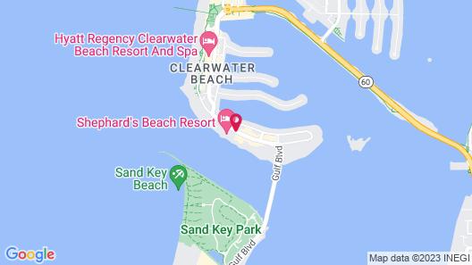 Hampton Inn & Suites Clearwater Beach Map