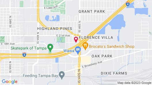 Quality Inn & Suites Near Fairgrounds Ybor City Map