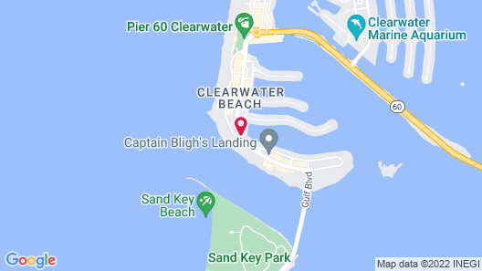 Clearwater Beach Hotel Map