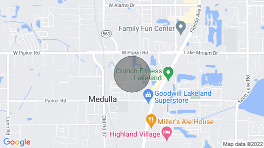 Quite Place With a Large Back Porch Facing a Lake. Easy Access to Restaurants, Grocery Stores, and Shopping. Easy to get to Tampa and Orlando Map