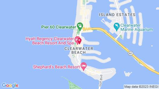 Hyatt Regency Clearwater Beach Resort & Spa Map