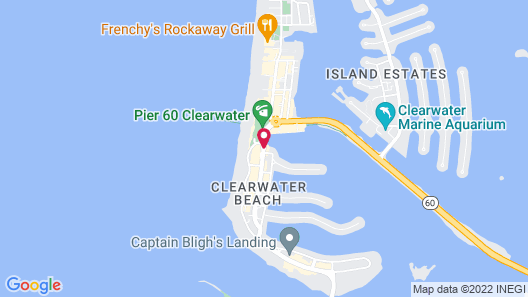 Pier House 60 Clearwater Beach Marina Hotel Map