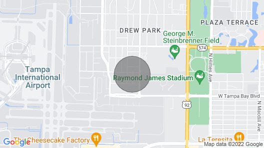Tampa Home Near Raymond James & Steinbrenner Field Map